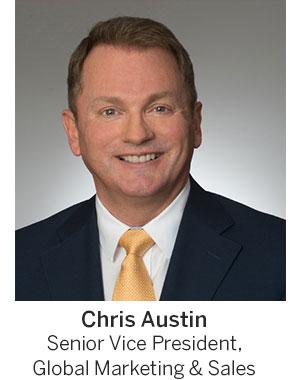 Chris Austin, Senior VP, Global Marketing & Sales